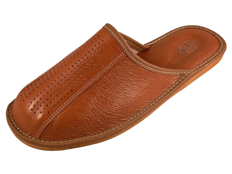 Chaussons pantoufles en cuir véritable pour homme avec semelles orthopédiques ou laine futter. couleurs différentes