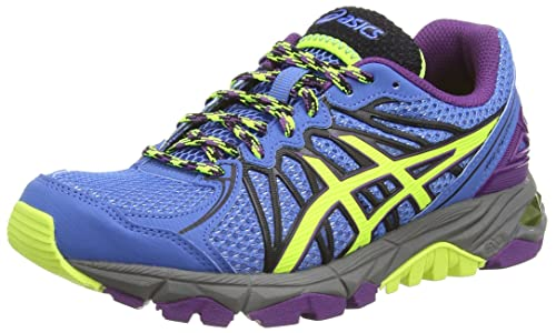 Asics Gel-Fujitrabuco 3 - Zapatillas de Deporte Para Mujer, Azul (Powder Blue/Flash Yellow/Purple 3907), 37