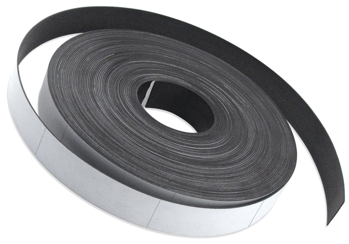 Flexible Magnet Strip with White Vinyl Coating, 1/32' Thick, 1' Height, 50 Feet, Scored Every 6', 1 Roll with 98-1' x 6' pieces 1/32 Thick 1 Height Scored Every 6 1 Roll with 98-1 x 6 pieces Master Magnetics Inc. ZGN03040W/WKS50S6