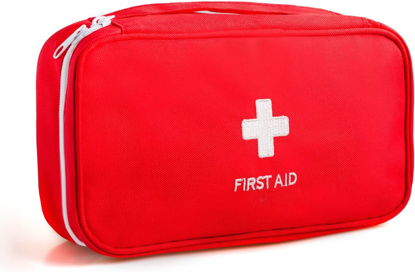 First Aid Kit Pouch Tote Small First Responder Storage Bag (No Content) Compact Emergency Survival Bag Medicine Bag with Home Office Sport Backpacking Hiking Cycling Gym Car Outdoor