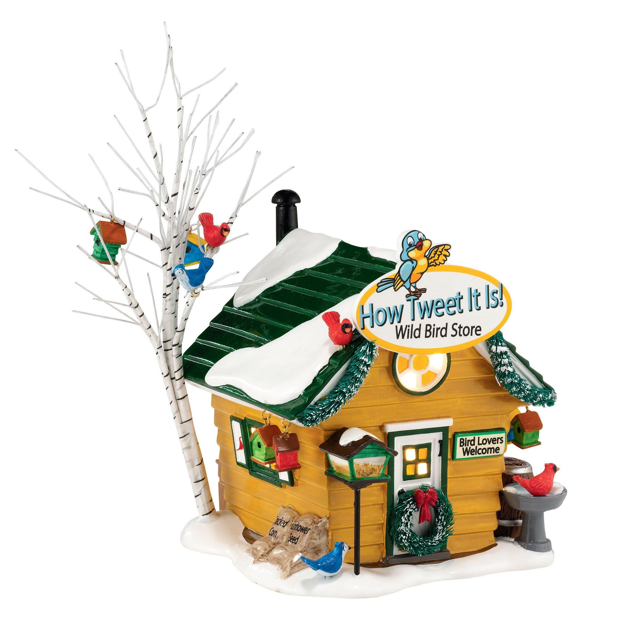 Department 56 Snow Village How Tweet It Is Wild Bird Lit House, 5.31 inch