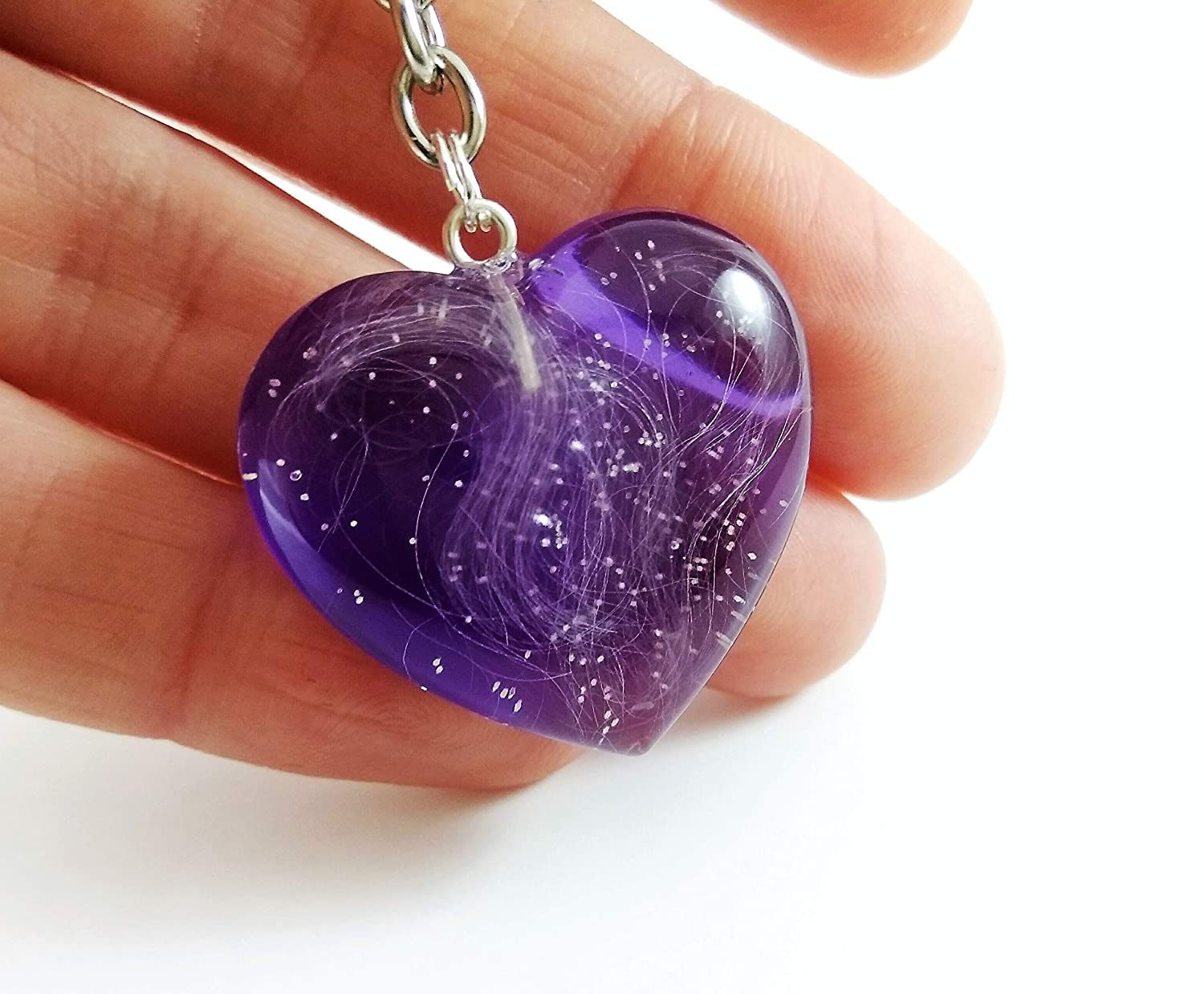 Keepsake Necklace Resin Pendant made from your own Horse//Pet/'s Hair//Fur