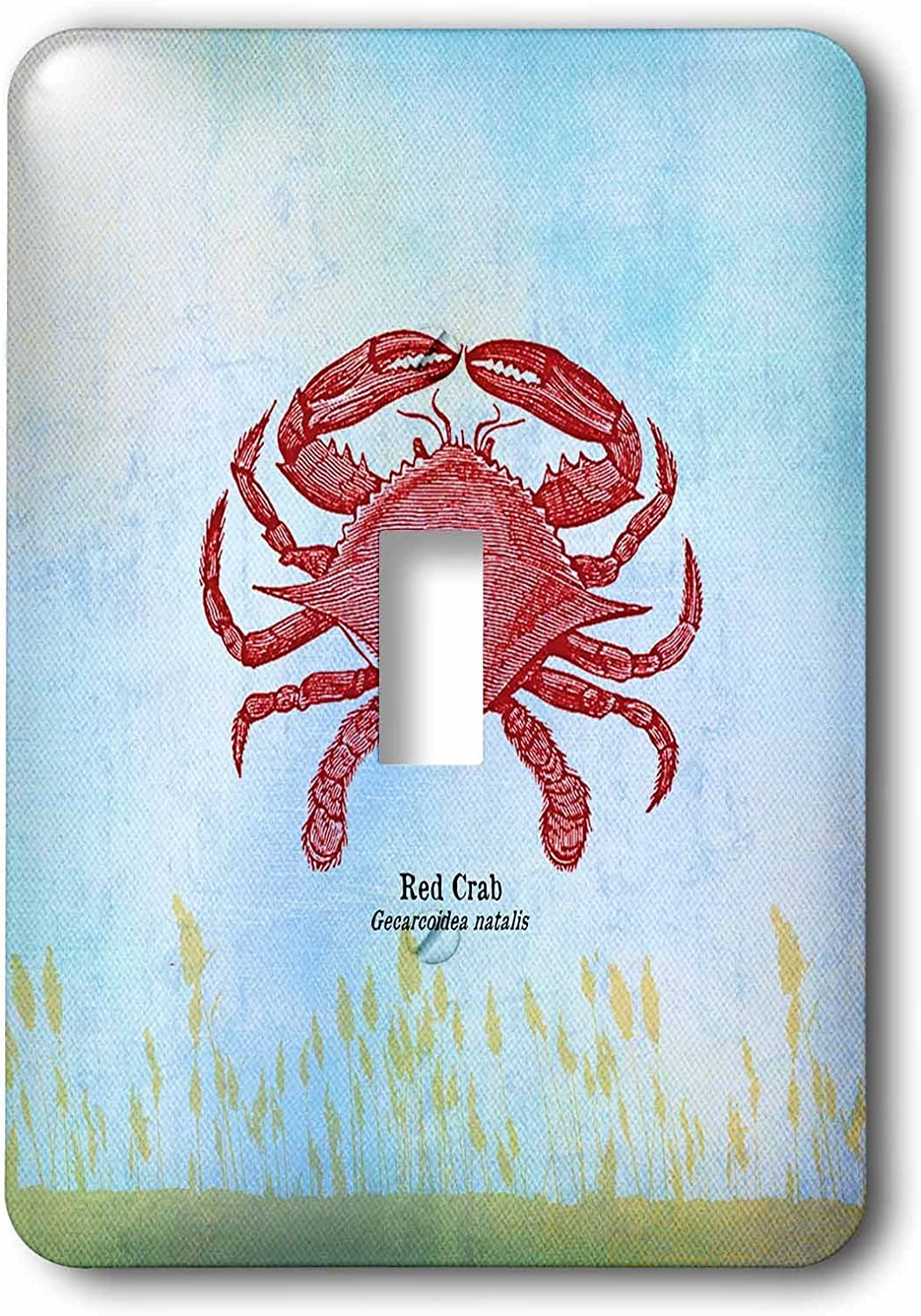 3D Rose lsp_79346_1 Red Crab-Seafood-Beach Theme Art-Single Toggle Switch