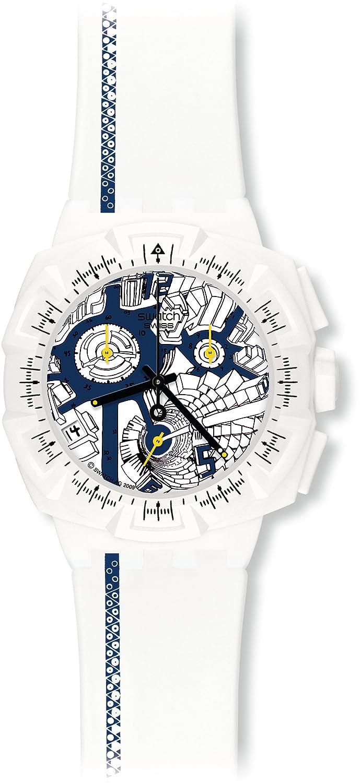 [スウォッチ]SWATCH 腕時計 Chrono Plastic クロノプラスチック STREET MAP BLUE ブルー SUIW408 メンズ [正規輸入品] B003LVZ9VA