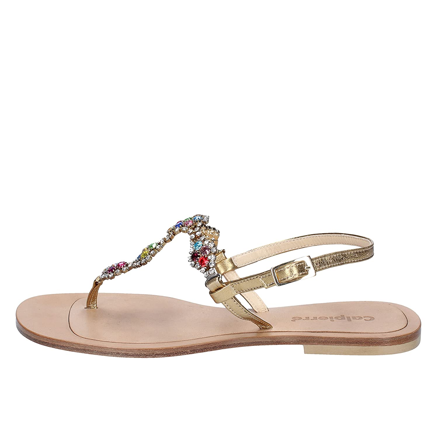 - CALPIERRE Sandals Womens Leather Silver
