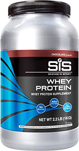 Science in Sport Whey Protein Isolate, 23g Chocolate Protein Powder with BCAAs, 5g BCAAs per Serving, No Added Sugar, 2.2lbs – 33 Servings