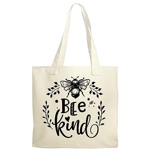 Bee Book Bag  Small Tote Bag  Cotton Shopping Bag  Eco Tote Bag