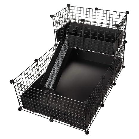 CagesCubes - Jaula CyC Deluxe (Base 2X3 + Loft 2x1 - Panel Negro ...
