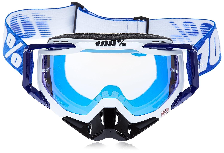 100% Racecraft Brille Abyss - Spiegel Silber Linse, Schwarz, Größe One Size Größe One Size 50110-001-02