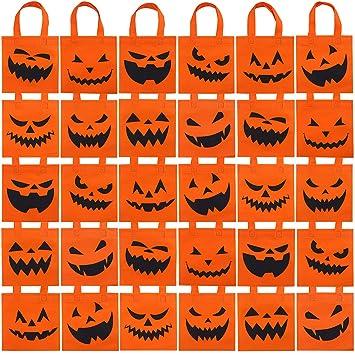 Amazon.com: Elcoho 30 paquetes de bolsas de calabaza de ...