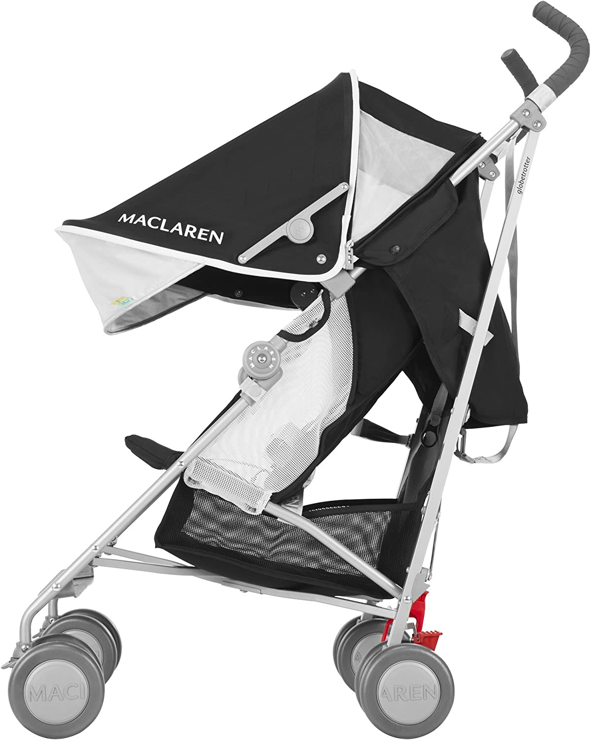Maclaren Globetrotter - Silla de paseo, color negro/blanco: Amazon ...