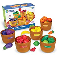 Learning Resources Farmer's Market Color Sorting Set, Homeschool, Play Food, Fruits and Vegetables Toy, Easter Toys, 30…