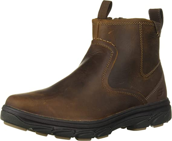 Skechers Men's Resment-Korver Chelsea Boot Side Zip Hiking