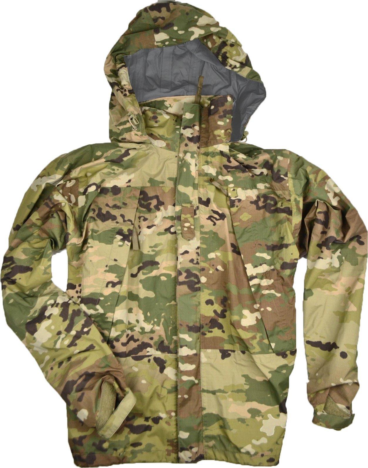 Genuine Military Extreme Cold Weather Level 6 Rain Parka, Scorpion (OCP), Made In USA, Size XXLXL