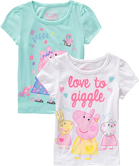 Ages 4-5 Years New Outfit Peppa Pig Girl/'s Peppa and George Pants Set
