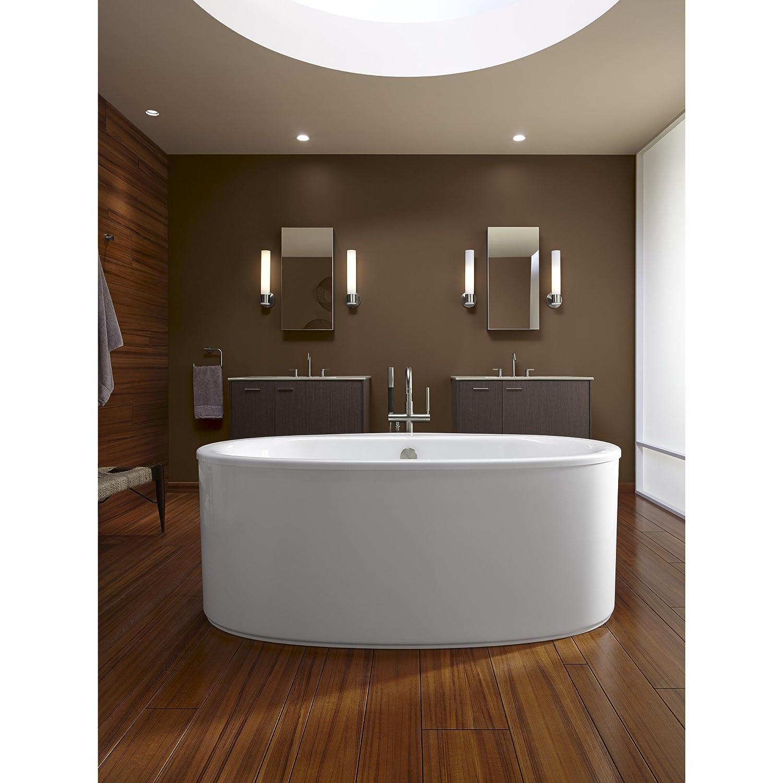 KOHLER K-6368-0 Sunstruck 66-Inch X 36-Inch Oval Freestanding Bath ...