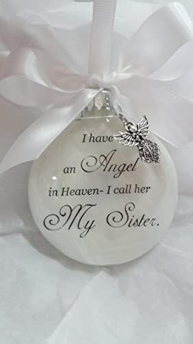 memorial christmas ornament sympathy gift angel in heaven i call her my sister