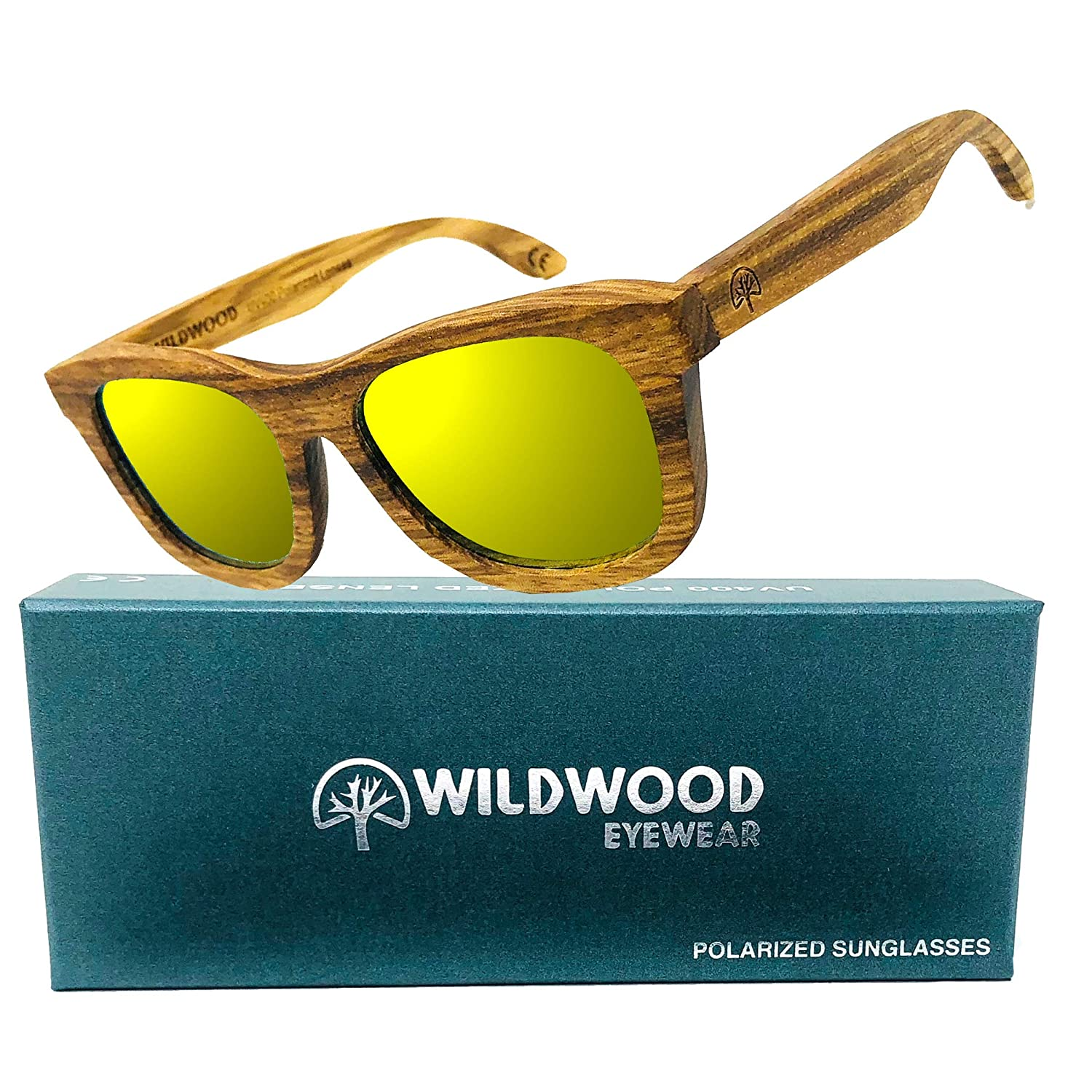 Youth Kids Zebra Wood Wayfarer Polarized Sunglasses by Wildwood - 6 to 12