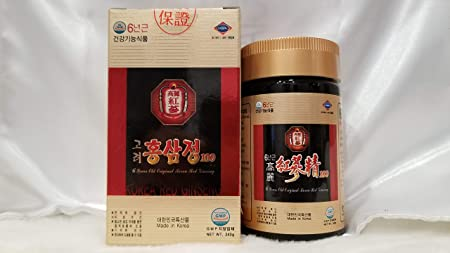 100 Korean 6 Years Old Root Red Ginseng Extract, High Concentration of Ginsenoside Rg1 Rg2 Rg3 9.0mg per Gram Compare with Other Products diluted to 4.0mg per Gram Power Up Stamina and Energy