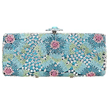 Bonjanvye Studded Shining Sakura Floral Clutch Bags for ...