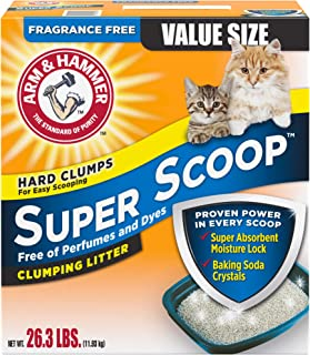 product image for Arm & Hammer Super Scoop Clumping Litter, Fragrance Free 26.3lb