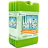Bentgo Ice Lunch Chillers Ultra-thin Ice Packs (4 Pack - Green)