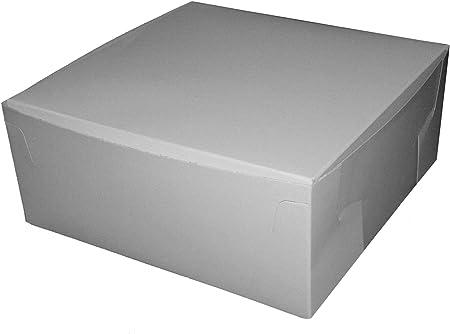 AVM 25 de Color Blanco Caja de cartón para Pasteles (6 x 6 x 3