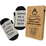 Funny Beer Socks + Gift Box - If You Can Read This Bring Me a Cold Beer