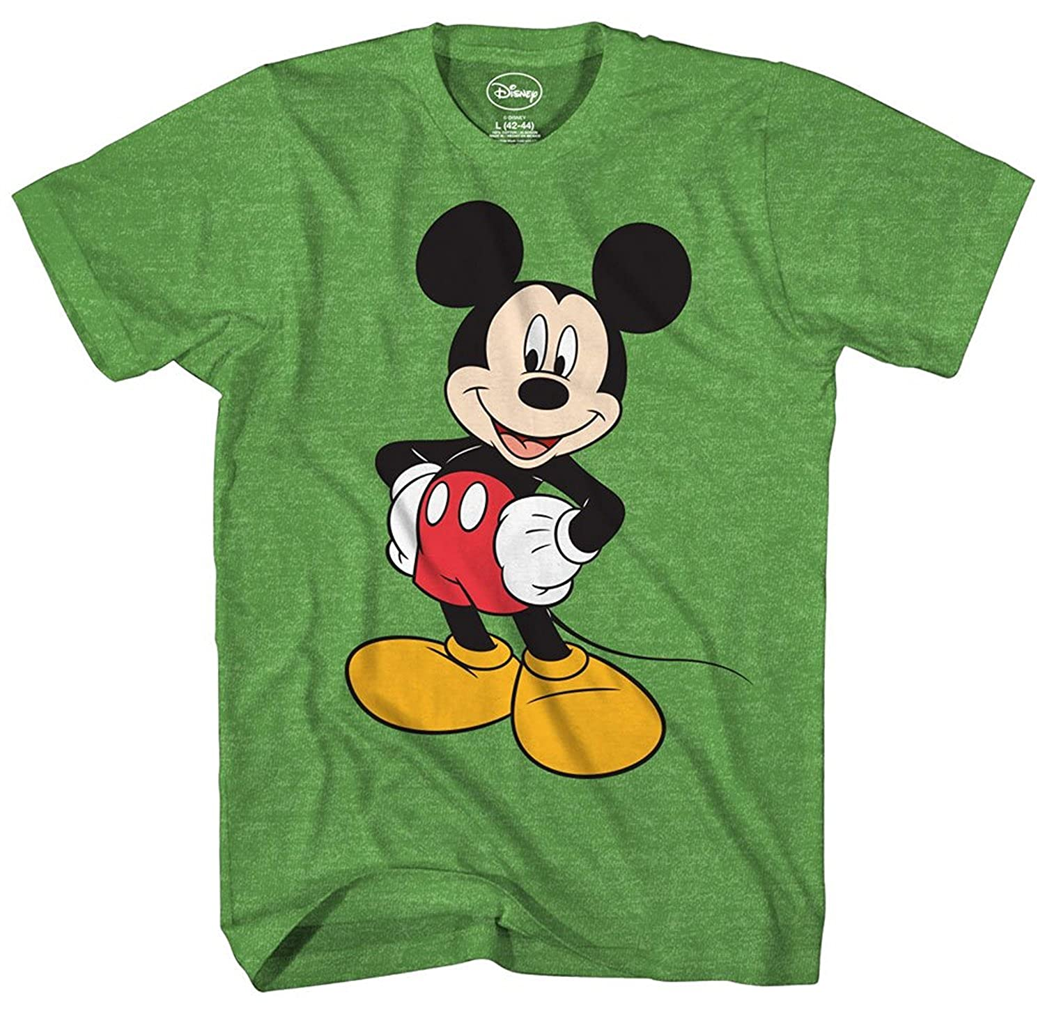 41a32214a Amazon.com: Disney Men's Classic Mickey Mouse Full Size Graphic Short  Sleeve T-Shirt: Clothing