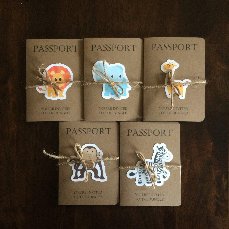 Amazon Com Safari Passport Birthday Invitations Set Of 25 Handmade