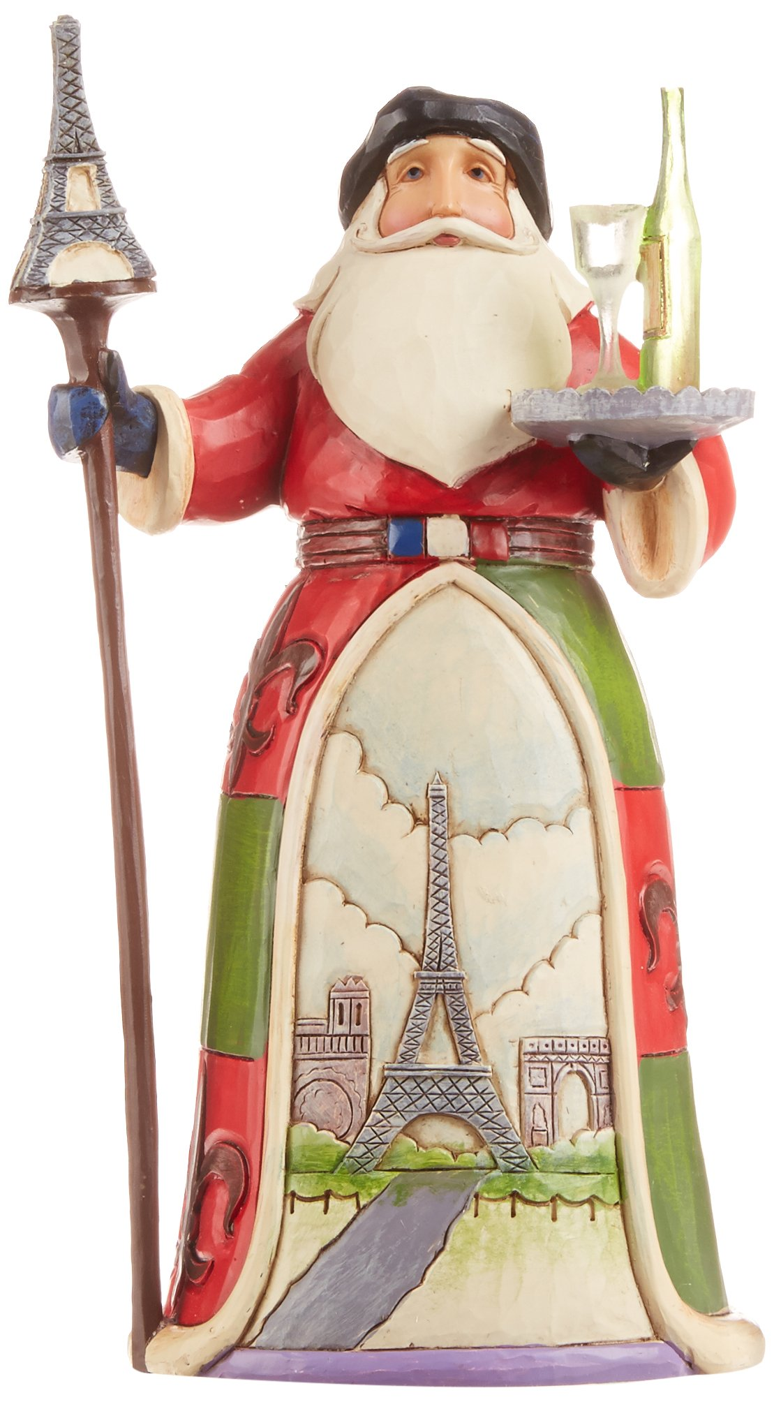 Jim Shore Heartwood Creek French Santa Stone Resin Figurine, 7.25""