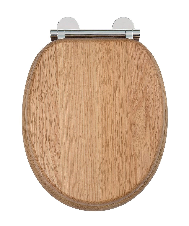 Croydex Flexi-Fix Ginebra Siempre Nunca Se Adapta Slips/ Madera de Roble Madera 45/x 37,5/x 6/cm /Asiento para Inodoro con Tapa