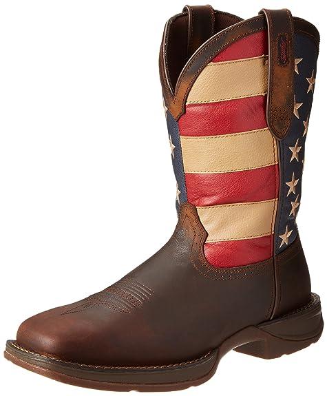 Durango botas de Rebel Western para hombre, Marrón, 9 2E US