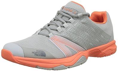The North Face Litewave Ampere Ii High Rise Grey/Nasturtium Oran Womens Training Shoe Size