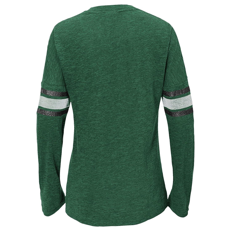 14 NFL New York Jets Youth Boys Team Captain Long Sleeve Slub Tee Hunter Green Youth Large