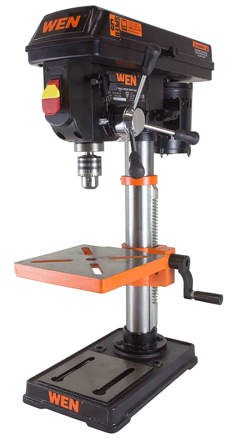 1.WEN 4210 Drill Press with Laser, 10-Inch