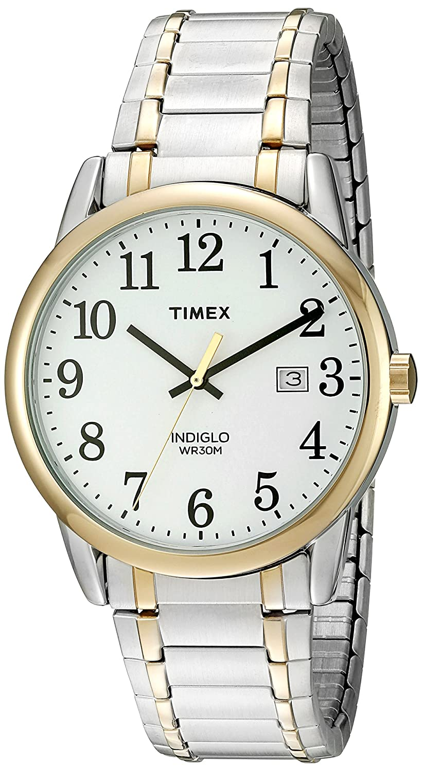 47914976f Amazon.com: Timex Men's TW2P81400 Easy Reader Two-Tone Stainless Steel Expansion  Band Watch: Timex: Watches