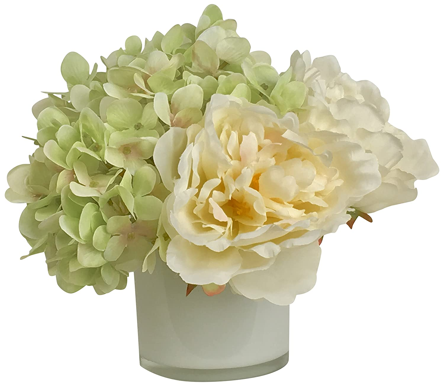 RG Style Silk Mixed in Decorative Vase Artificial Floral Arrangement