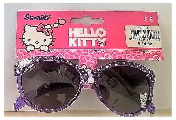 Hello Kitty Gafas de sol - para niña blanco Bianco: Amazon ...