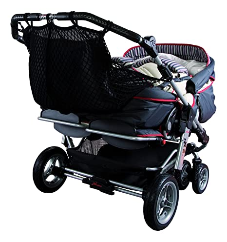 Sunnybaby 850120019- Red de compras para carrito gemelo, color negro