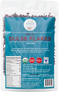 product image for Ocean's Balance Organic Dulse Flakes - Maine Coast Seaweed - Atlantic Ocean Sea Vegetables, Perfect for Keto Diet, Paleo Diet, Vegetarian Lifestyle or Vegan Diet - Gluten Free - 4oz Bag