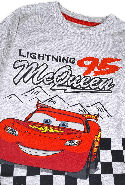 JollyRascals Boys Lightning McQueen Cars Top Kids New Long Sleeve Cotton Disney T-Shirt Ages 12 18 24 Months 2 3 4 5 6 Years