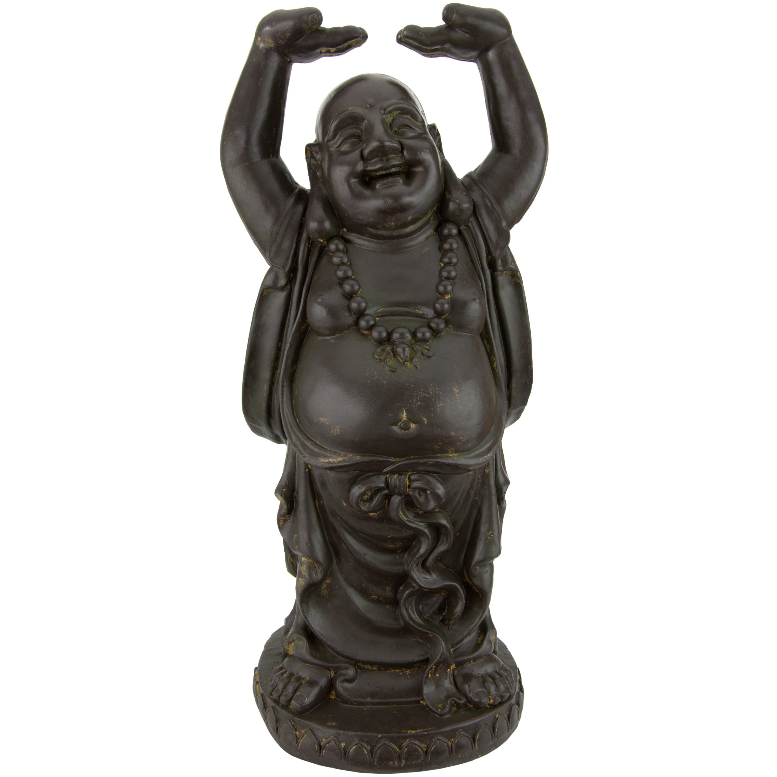 Oriental Furniture 3 ft. Tall Standing Laughing Buddha Statue