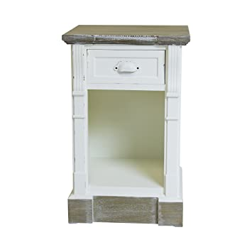 Charles Bentley White Shabby Chic Vintage French Style Bedside Table 1 Drawer Bedroom Furniture Matching Pieces Available