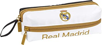 Real Madrid CF Estuche portatodo Triple 3 Cremalleras Escolar: Amazon.es: Equipaje
