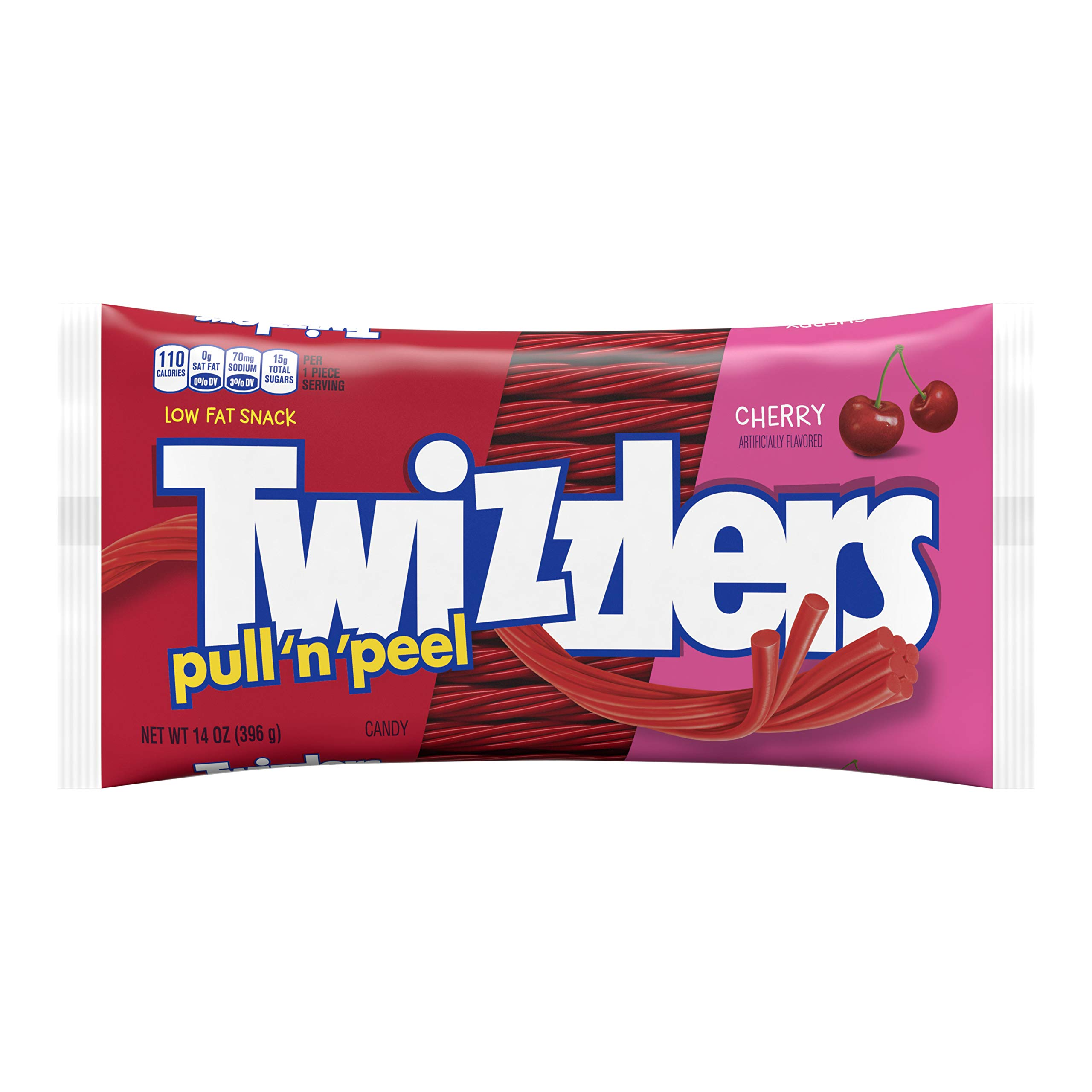 Twizzlers Candy, 14oz, PULL 'N' PEEL Cherry