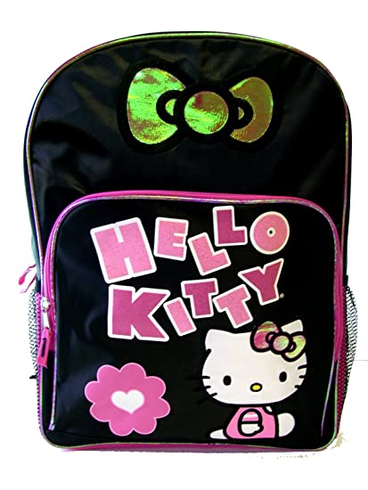 3a2114c5f748 Image Unavailable. Image not available for. Color  Hello Kitty Backpack -  Black ...