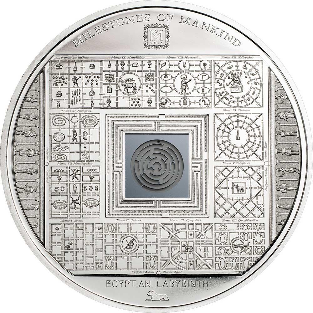EGYPTIAN LABYRINTH Milestones Milestones Milestones of Mankind Silber Münze 10 Cook Islands 2016 ce15a8