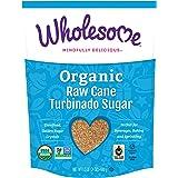 Wholesome Organic Raw Cane Turbinado Sugar, Fair Trade, Unrefined Sugar, Non GMO & Gluten Free, 1.5 Pound (Pack of 1)