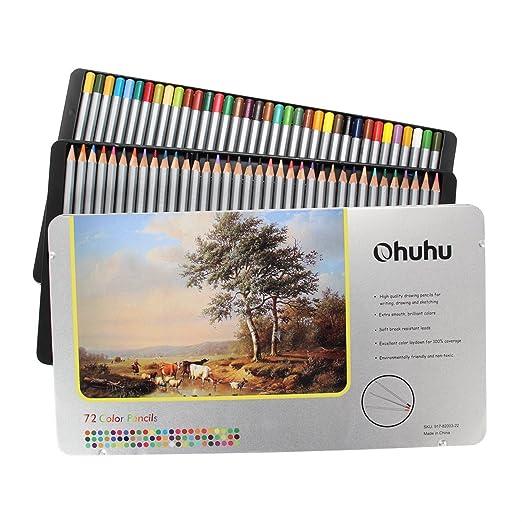 62 opinioni per [Confezione Aggiornata] Ohuhu® 72-Colore Matite Colorate per Pittura Disegno